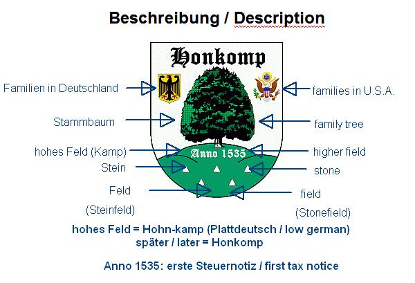 Honkomp-Wappen-Beschreibung